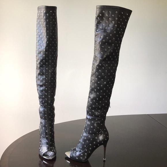 e8da512d74b8b Tom Ford Shoes | Open Toe Over Knee Stilettos Heel Boots | Poshmark